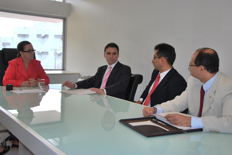 E-D - Regina Rocha, Marcos Braid, Domerval Moreno e Justino Guimaraes