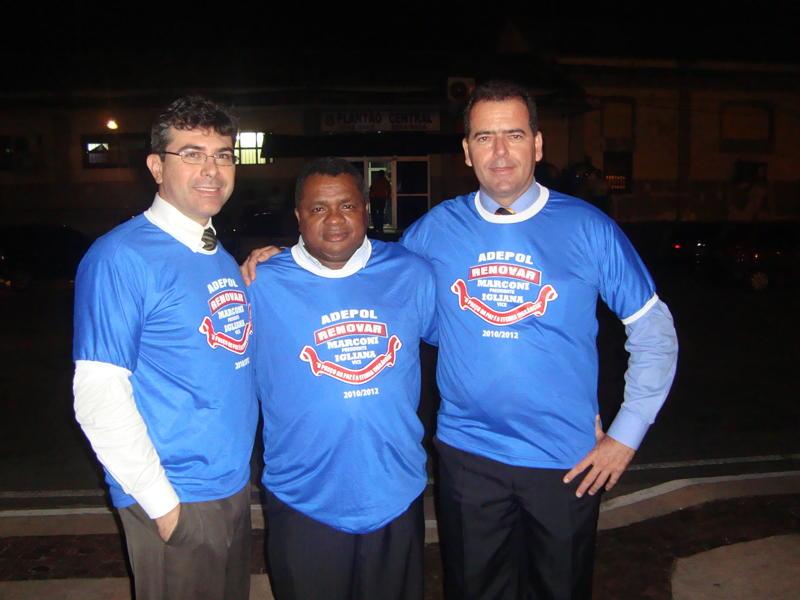 Delegados, Melônio Filho,  Guilherme Sousa e Marconi Lima (presidente da Adepol).