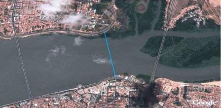 traçado ponte rio anil
