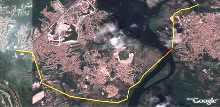 traçado ponte sobre o rio bacanga e acessos