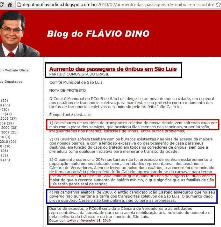 flavio-dino-aumento-da-passagem
