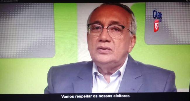 Gastão, na TV, pede respeito aos eleitores maranhenses