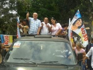 Com Doutor Holanda e a candidata a depuitada federal Luana Alves