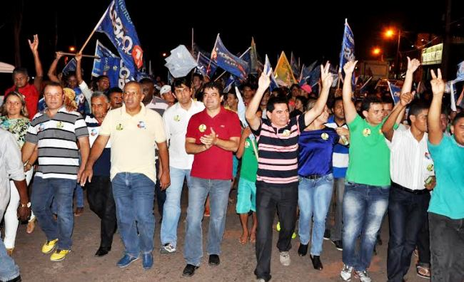 Alan Linhares, Venancinho, vereadores e candidatos em caminhada por Bacabeira