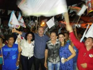 Em São Benedito do Rio Preto com Doutor Creomar Mesquita, a vereadora Teresa Mesquita e lideranças comunitárias