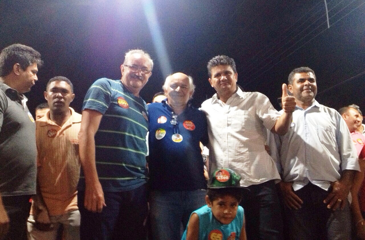 Prefeito Flavio Furtado vice Jorge Oliveira e o candidato a dep Federal Claudio furtado. Em duque bacelar
