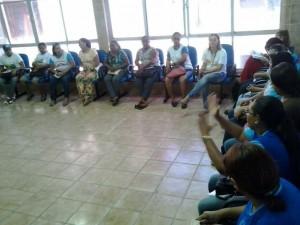 Profissionais participando do treinamento em Saúde Mental