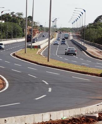 O novo trecho da Via Expressa: maior mobilidade urbana