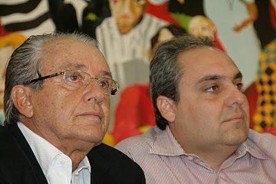 Tavares com o sobrinho, Marcelo; pouco espaço no governo