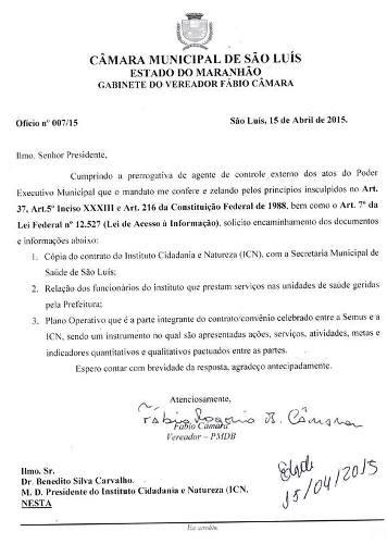 F bio c mara pede informa o sobre contrato do icn com for Contrato documento