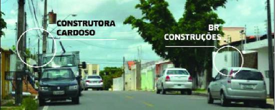 As duas empresas do esquema, no Cohafuma, uma de frente pra outra