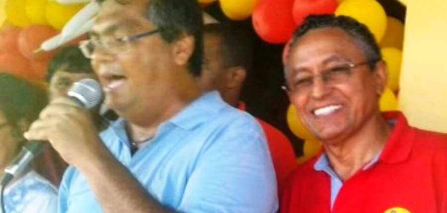 Flávio Dino e o militante Amilcar, irmão do juiz Francisco: relações quase umbilicais