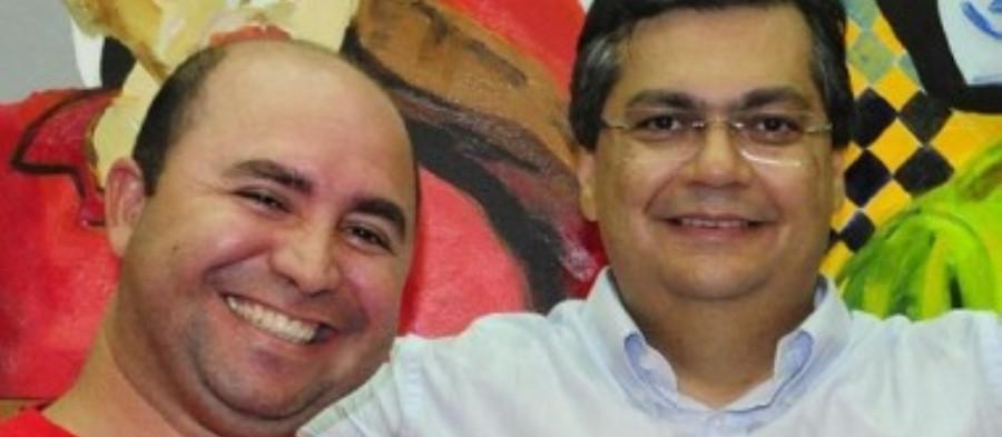 Flávio Dino com Robson Paz: suspeita de licitação dirigida na Secom
