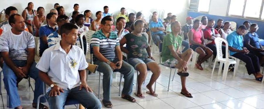 os agricultores participaram ativamente da reunião