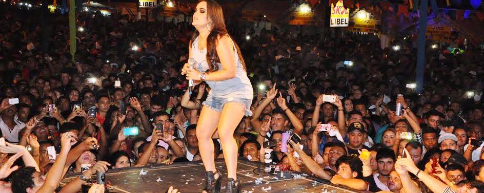 Mara Pavanelli foi a principal atração do encerramento da festa