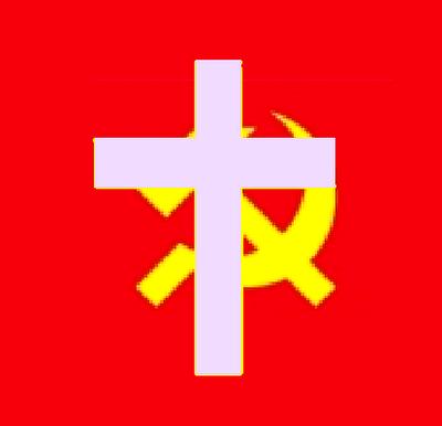 Símbolo da oposição do Cristianismo ao Comunismo