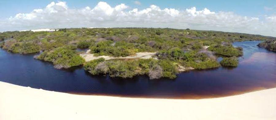 Localidade em Santo Amaro,d e onde jornalistas partirão em um trekking pelos lençóis...