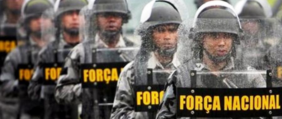 Homens da Força Nacional: se estão aqui, por que não estão nas ruas?!?