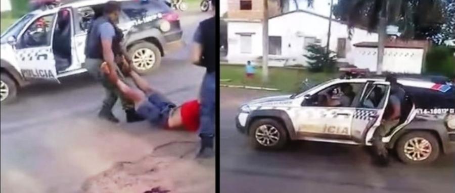Após executa o mecânico, vigilante é ajudado por PM a colocar o corpo na iatura da polícia; cena comum no interior?