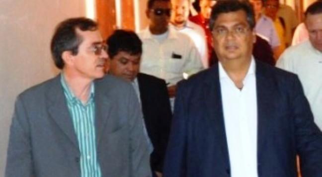 Flávio Dino com Marcos Pacheco em unidade de Saúde: ele tentou fazer do seu jeito e deu no que edeu..