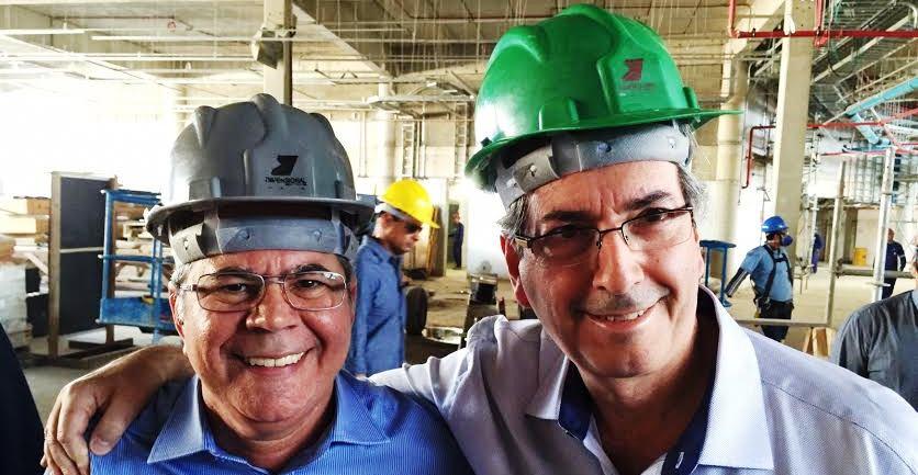 Hildo Rocha com Eduardo Cunha