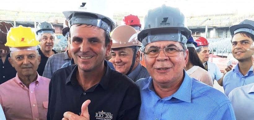 O deputado maranhense com o prefeito Eduardo Paes