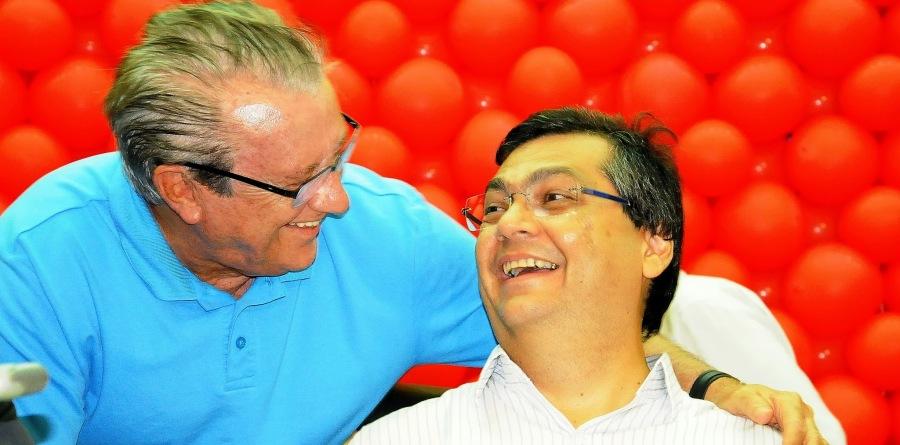 Zé Reinaldo com seu pupilo, agora governador: é preciso mais do que um homem só..