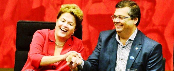 Dilma com Dino: qualquer um pode entrar...