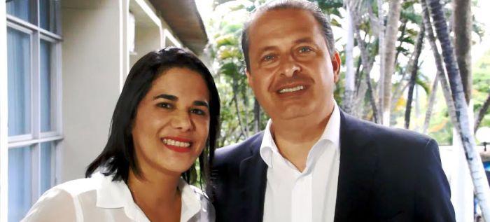 Eduardo com a primeira-dama, Luana Alves