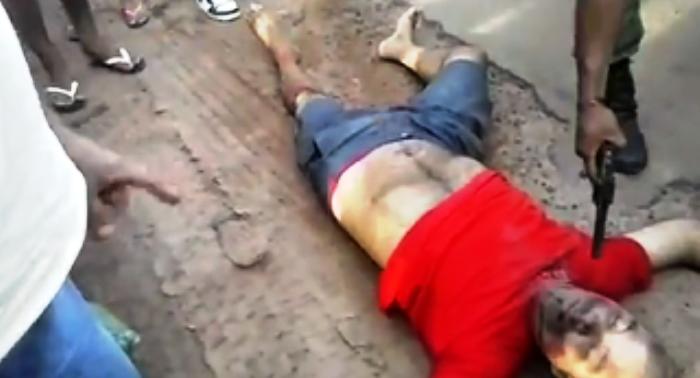 O mecânico Irialdo Batalha: executado em praça púiblica