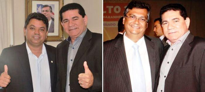 Alan Linhares, com Márcio Jerry e com Flávio Dino: comunista
