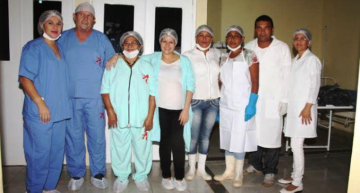 A equipe de profissionais da prefeitura de Mirinzal