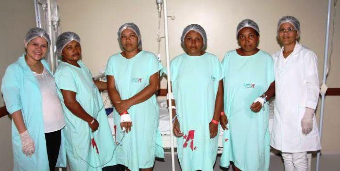 E algumas das pacientes que passaram pelas cirurgias eletivas