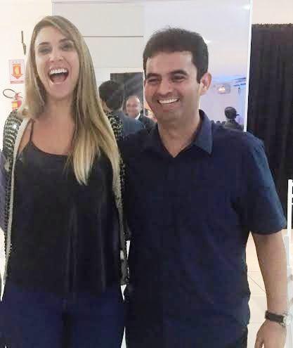 Soliney Filho com Andrea Murad