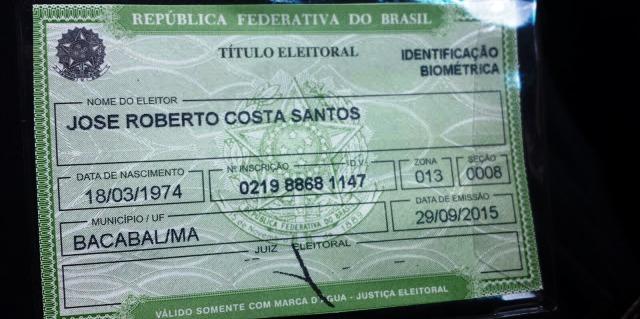 o novo Título de Eleitor do deputado (imagem: blog do Abel Carvalho)