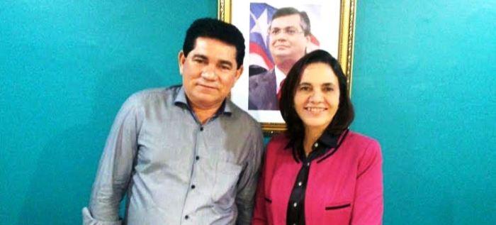 Alan Linhares e a secretária Áurea Prazeres