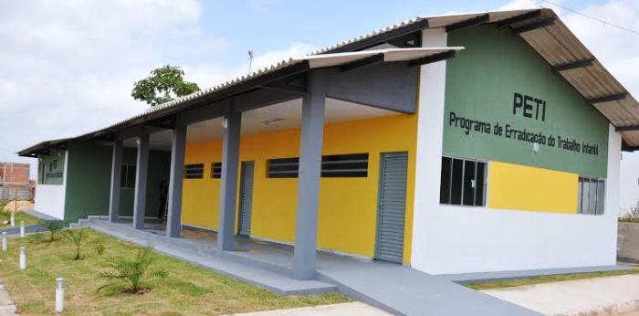 A sede do PETI em Bacabeira...