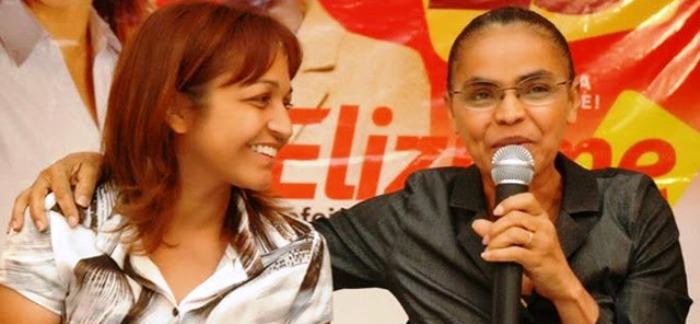 Eliziane com Marina Silva: Rede consolidada no estado