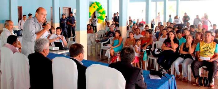 Prefeito Ribamar Alves fala sobre a biometria aos eleitores e autoridades