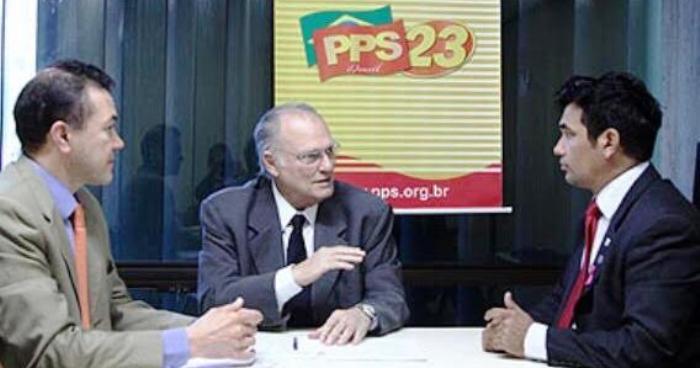 Wellington, com Ezequiel Leitão e Roberto Freire