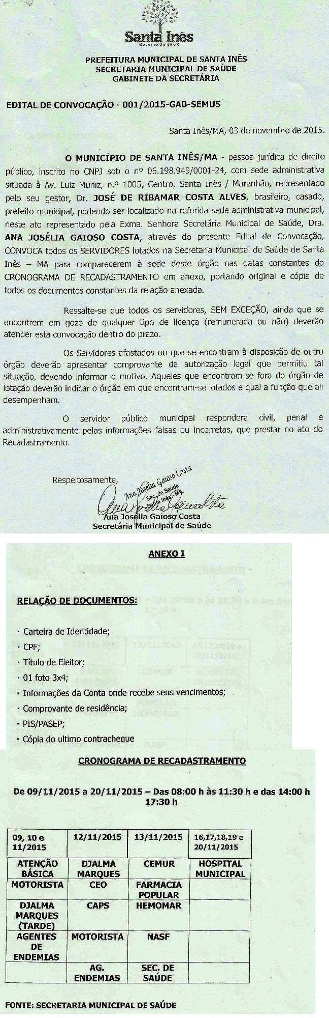 EDITAL DE CONVOCAÇÃO 001_2015-Saúde