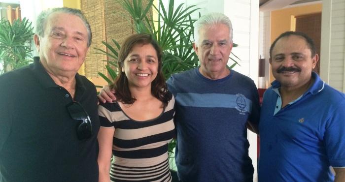 Eliziane com Bueno, Tavares e Waldir Maranhão,