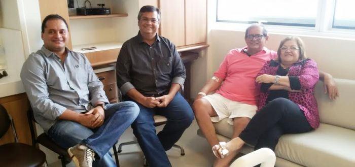 Humberto e Cleide com Flávio Dino e Weverton Rocha