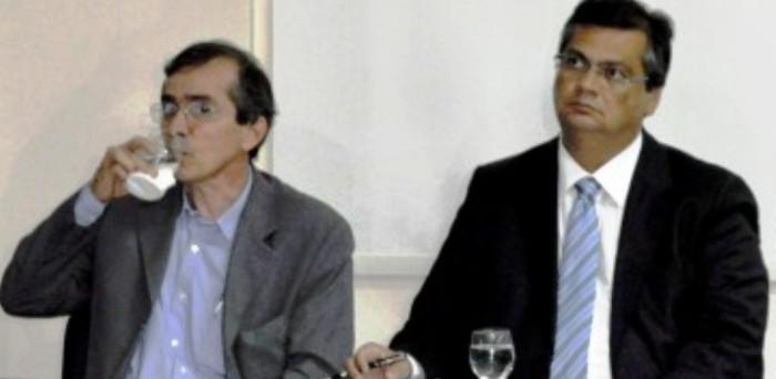 Marcos Pacheco com Flávio Dino: citado no relatório, poupado na operação da PF