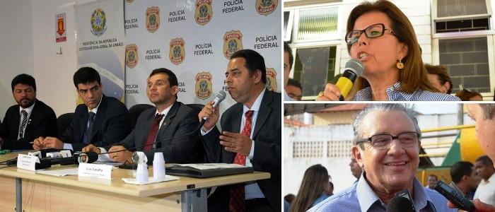 Os delegados e procuradores federais e dois dos citados nos relatórios da PF: Helena Duailibe e José Reinaldo Tavares: poupados? (imagem: Atual 7)