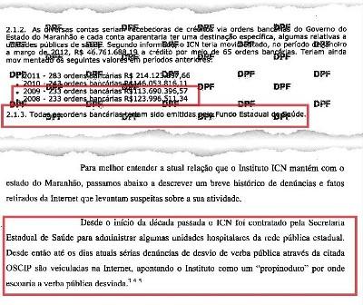 Trecho do realtório da PF confirma: invesigação vem desde 2004, ao contrário do que afirmaram o delegados