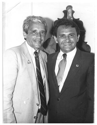 José Reinaldo e Vidigal: desde jovens, pelas mãos de Sarney