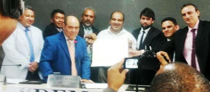 Uchôa com Astro, Pedro Lucas, demais vereadores e colegas de carreira na SSP