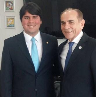 André com o ministro Marcelo Castro