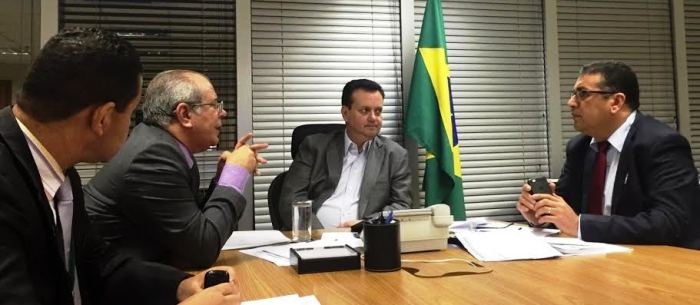 Hildo Rocha conversa com o  inistro Kassab sobre as obras no Maranhão